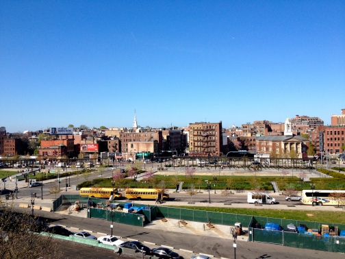 View of the North End from our hotel roof