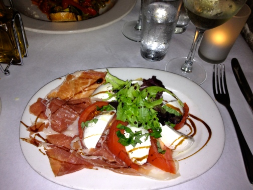Caprese Salad with Prosciutio