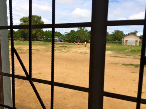 View outside the school