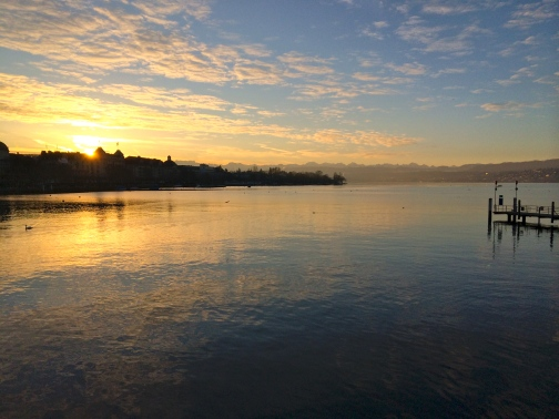 Sunrise in Zurich Switzerland